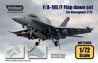 F/a-18E/f Flap Down Set Wolfpack 72008 1/72 For Hasegawa