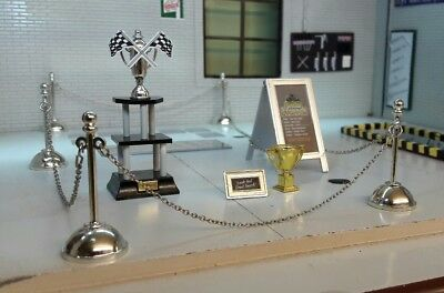 G 1:24 Scale Trophy Display Show Model Scene Diorama Accessories Set (No Car)