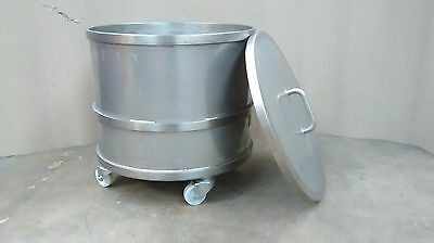 Stainless Steel Tank Mixing Vessel 100 Litres Wheels Cylinder Round Process MIX1