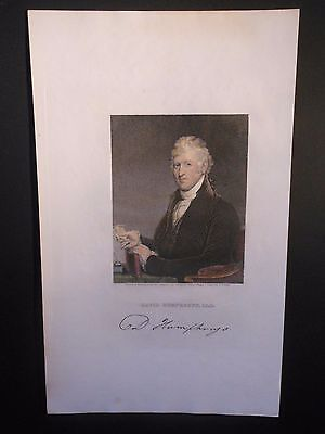 David Humphreys Revolutionary War Col. George Washington Aid 1850 Hand Colored