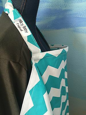NEW  >NURSING COVER like hider* BREASTFEEDING Cover Up Teal Chevy