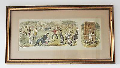 """Mr Punch's Pocket Book : Framed Print : """"7 Ages of Lawn Tennis"""""""