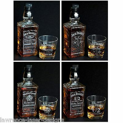 Jack Daniels Empty Engraved Bottle - The Rock Collection  FREE UK Post