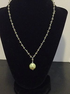 Honora Sterling Silver Gemstone And Freshwater Coin Pearl Necklace With Drop