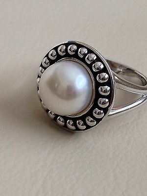 Honora Pearl Cultured Freshwater Pearl Ring In Sterling Silver (10-1/2Mm)