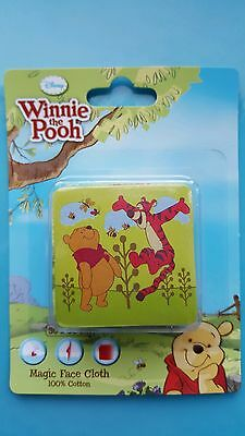 Kids Magic Face Cloth Flannel Towel Disney Winnie the Pooh - expands in water