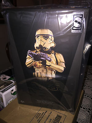 2016 Exclusive SDCC Star Wars Sideshow Gold Stormtrooper 1/6 scale