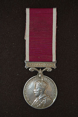 Pre WW II BRITISH LONG SERVICE GOOD CONDUCT MEDAL 1930 - 36 Type   REGULAR ARMY