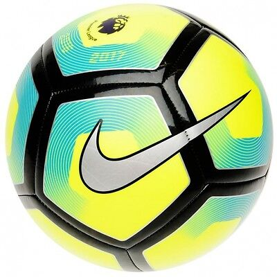 Nike Pitch Premier League Football 2017 Size 5 Yellow/Blue Brand New
