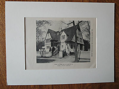Frank Nellis House, Evanston, IL, Russell S. Walcott, 1924, Lithograph