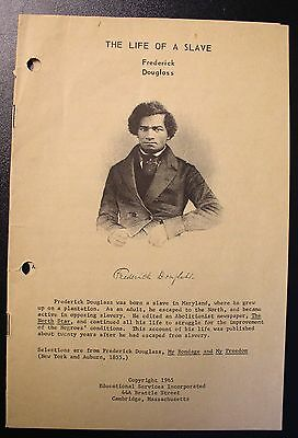 Frederick Douglass The Life of a Slave - 1965 Educational Services Booklet