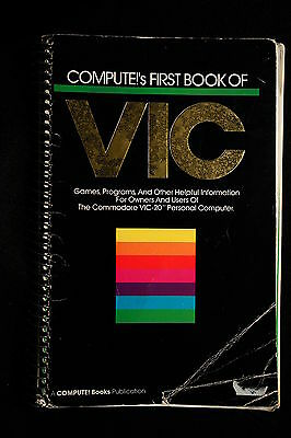 Compute!'s First Book Of Vic Compute Commodore Vic20 Vic-20 Reference Help Box C