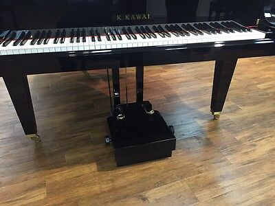 Adjustable Piano Pedal Extender Platform with Dual Pedal - Black - Oz Stock