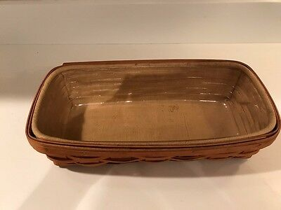 Longaberger Bread Basket Combo Butternut Yellow liner and protector