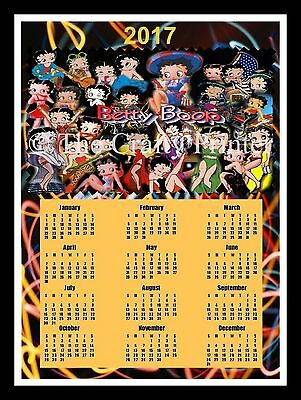 2017 Calendar Magnet - Betty Boop Collage
