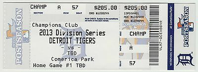 2013 - Detroit Tigers - Division Series - Home Game #1 - Ticket Stub