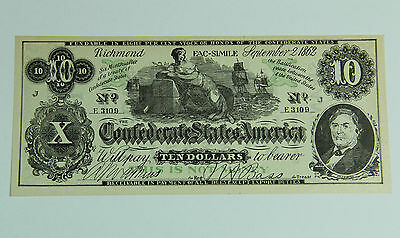 Confederate Currency Facsimile Advertising Swanson's Clothing Galesburg Illinois