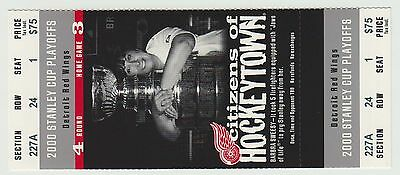 2000 - Detroit Red Wings - Ticket Stub - Stanley Cup Playoffs - Round 4 Game 3