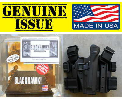 BLACKHAWK CQC Serpa 430504BK-R Holster Beretta 92 96 M9 M9A1 Tactical Black USMC