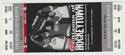 2000 - Detroit Red Wings - Ticket Stub - Stanley Cup Playoffs - Round 1 Game 4