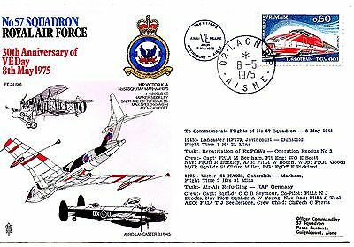 FRANCE 1975 RAF - COVER - 30TH ANNIVERSARY OF VEDAY 8th MAY 1975