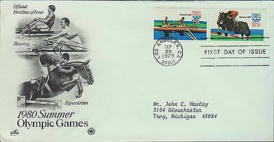 1979 - Fdc - 1980 Summer Olympic Games - Rowing / Equestrian