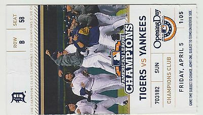 2013 - DETROIT TIGERS - OPENING DAY - vs NEW YORK YANKEES- TICKET STUB