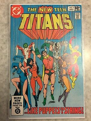 New Teen Titans 9.   2nd Deathstroke App.  NM-copy