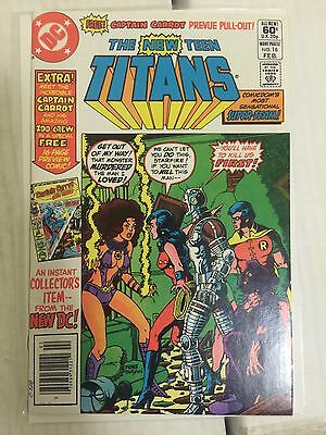 New Teen Titans 16.   First Captain Carrot.  NM copy
