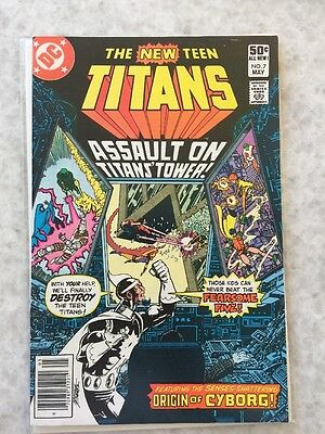New Teen Titans 7.   Cyborg Origin.  VF/NM copy