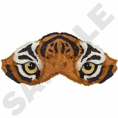 """Tiger Eyes, Wild Animal, Exotic Cat Embroidered Patch 6.9""""x 3.3"""""""