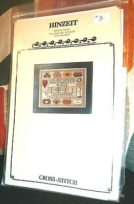 Vtg Hinzeir Cross Stitch Sampler Months to everything a season 188 by 156 count