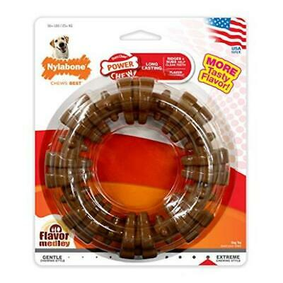 Nylabone Dura Chew Textured Ring Dog Chew Toy Souper (Dogs 50+ Lbs.) Pet Durable