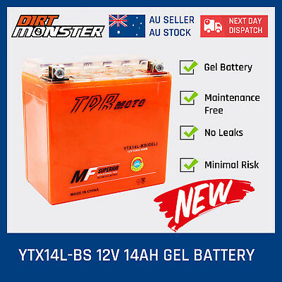 GEL YTX14L-BS Motorcycle Battery for Harley Davidson 883 1200 XL XLH Sportster