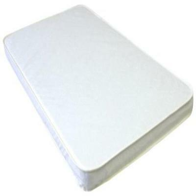 "La Baby 2"" Compact Crib Mattress White Free Waterproof Small & Compact New"