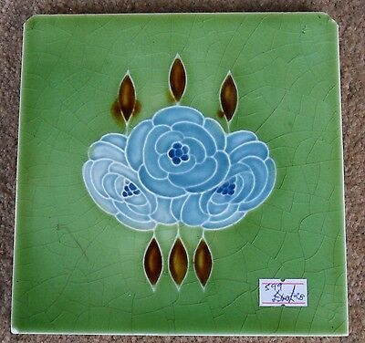 "Original  English  late Art Nouveau tile , c1920 6""x6""Tile 599"