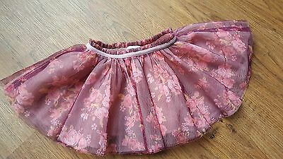 Baby Girls Rose Pink & Purple TuTu RaRa Skirt | Elasticated Waist | 9-12 months