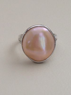 Honora  Mother Of Pearl Freshwater Cultured Pearl Ring