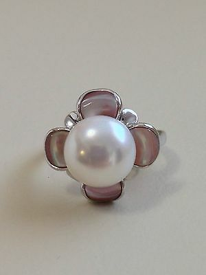 Honora Sterling Silver Freshwater Cultured Pearl Ring Size 8