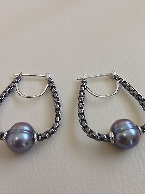 Honora Sterling Silver 9-10Mm Round Ringed Freshwater Cultured Pearl Earrings