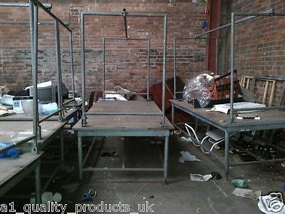 Market Stalls Stands, 9x4ft, Table, Car Boot, Display, Hanging Rail, Heavy Duty