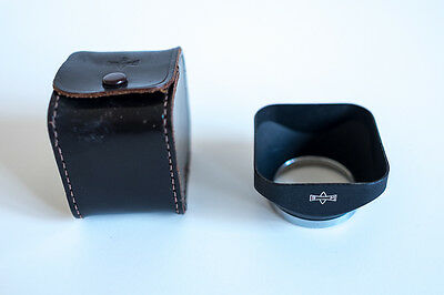 Mamiya TLR genuine 42mm hood for 80mm lens With leather case