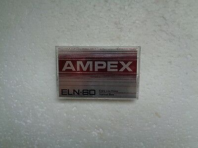 Vintage Audio Cassette AMPEX ELN-60 From 1982 - Excellent Condition !