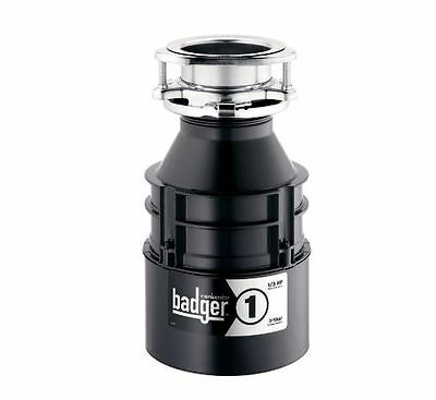 Continuous Feed Garbage Disposal Badger Easy Asemble and Install 1 1/3 HP