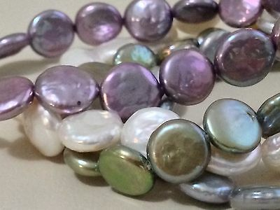 Honora Set Of Four Coin Freshwater Cultured Pearl Stretch Bracelets