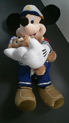 DISNEY STORE SAILOR MICKEY MOUSE WITH DUFFY BEAR RARE With Official Dinsey Stamp