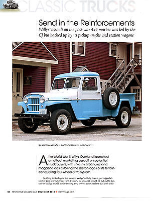 1947 Willys Pickup Truck ~ Great 3-Page Article / Ad