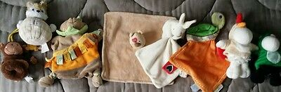 Lot doudous peluches marionnette MOULIN ROTY lilliputiens tartine chocolat