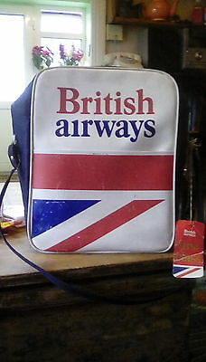 Vintage British Airways bag. With first class tag.