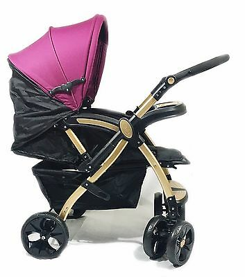 Baby Pram Travel System Pushchair Stroller Buggy Infant Kids 3 Position Facing